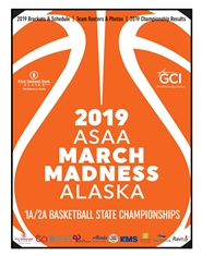 2019 ASAA/First National Bank Alaska 1A/2A Basketball State Championship Program cover image