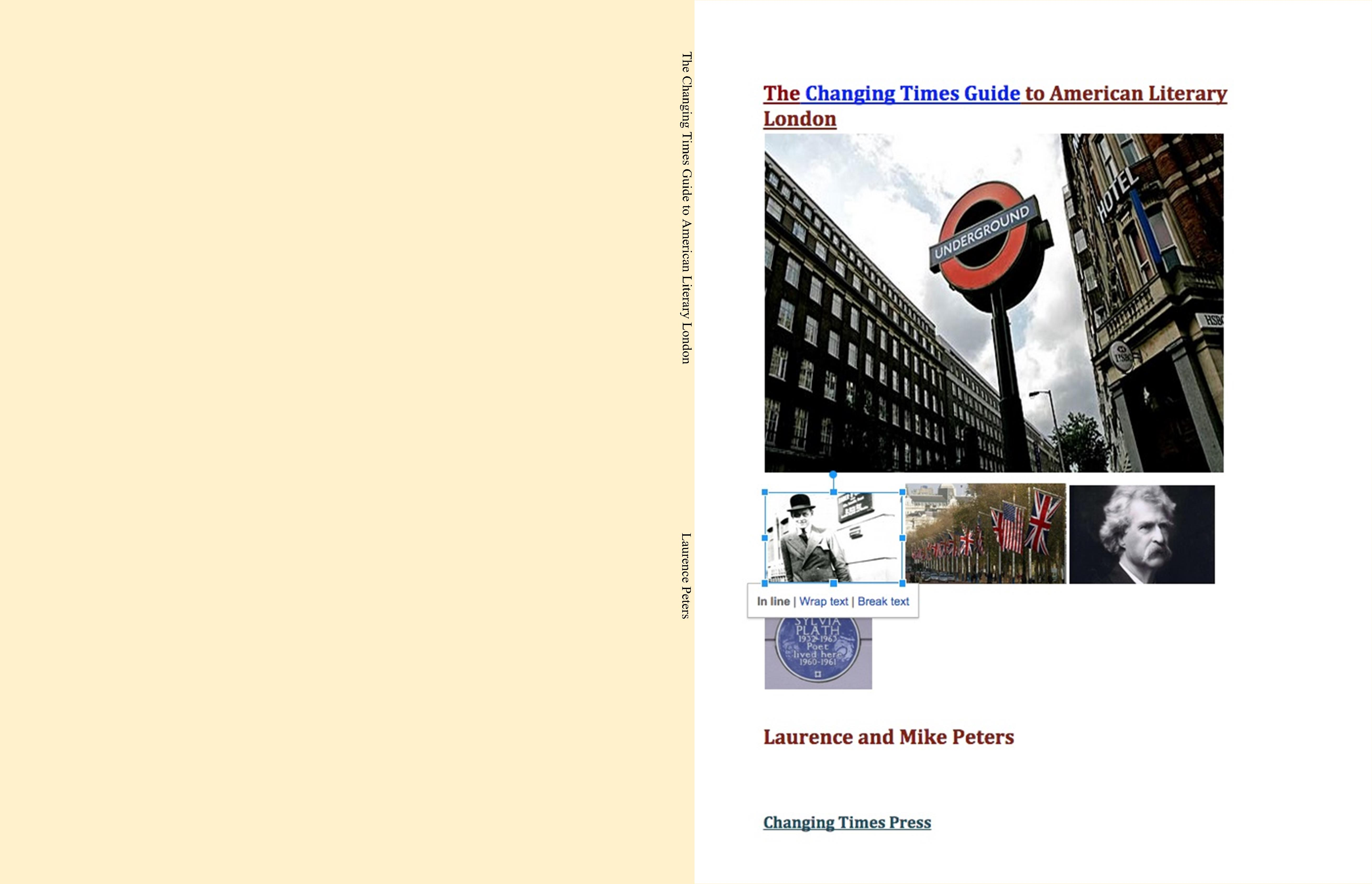 The Changing Times Guide to American Literary London cover image