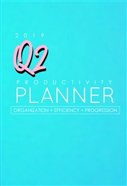BlkWomenHustle 2019 Q2 Productivity Planner cover image