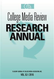 College Media Review Research Annual 2016 cover image