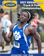 2017 KHSAA Track & Field State Meet Program cover image