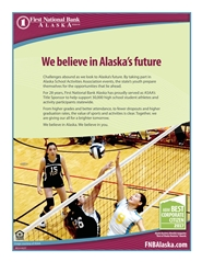 2017 ASAA/First National Bank Alaska 2A/Mix Six Volleyball State Championship Program cover image