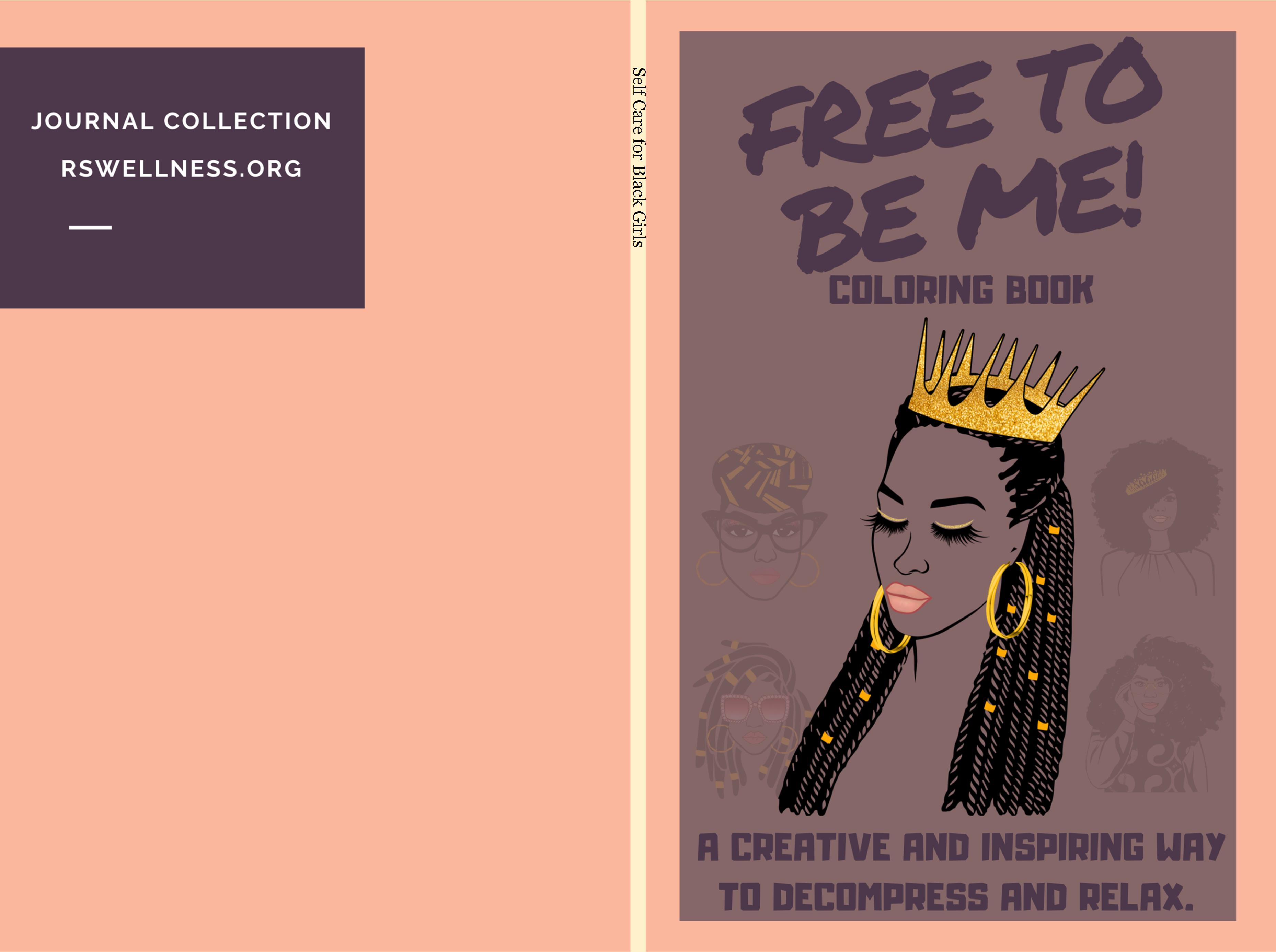 Mindfulness Coloring for Black Girls (braids) cover image