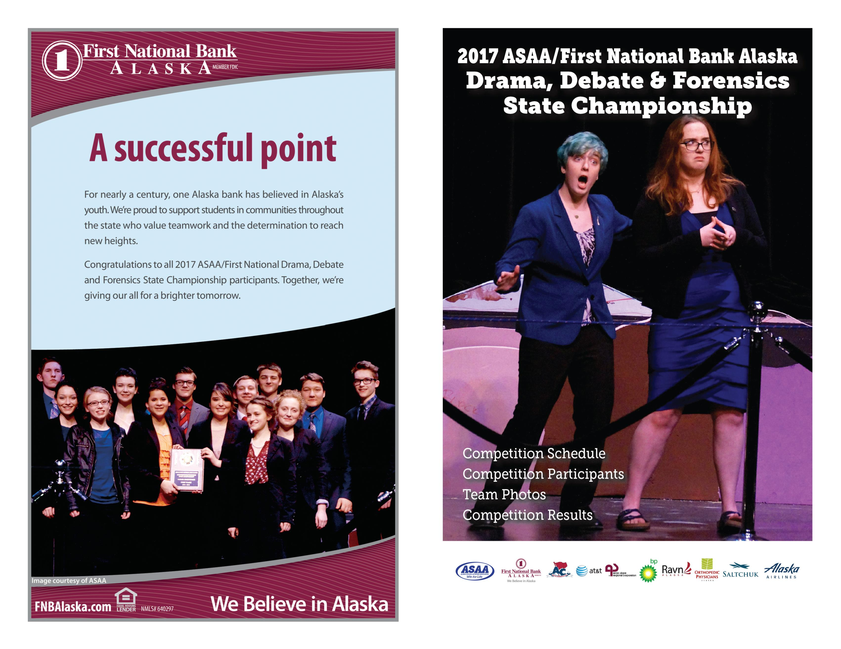 2017 ASAA/First National Bank Alaska DDF State Championships Program cover image