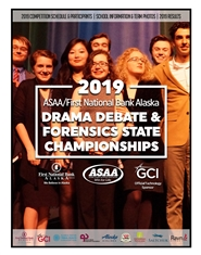 2019 ASAA/First National Bank Alaska DDF State Championships Program cover image