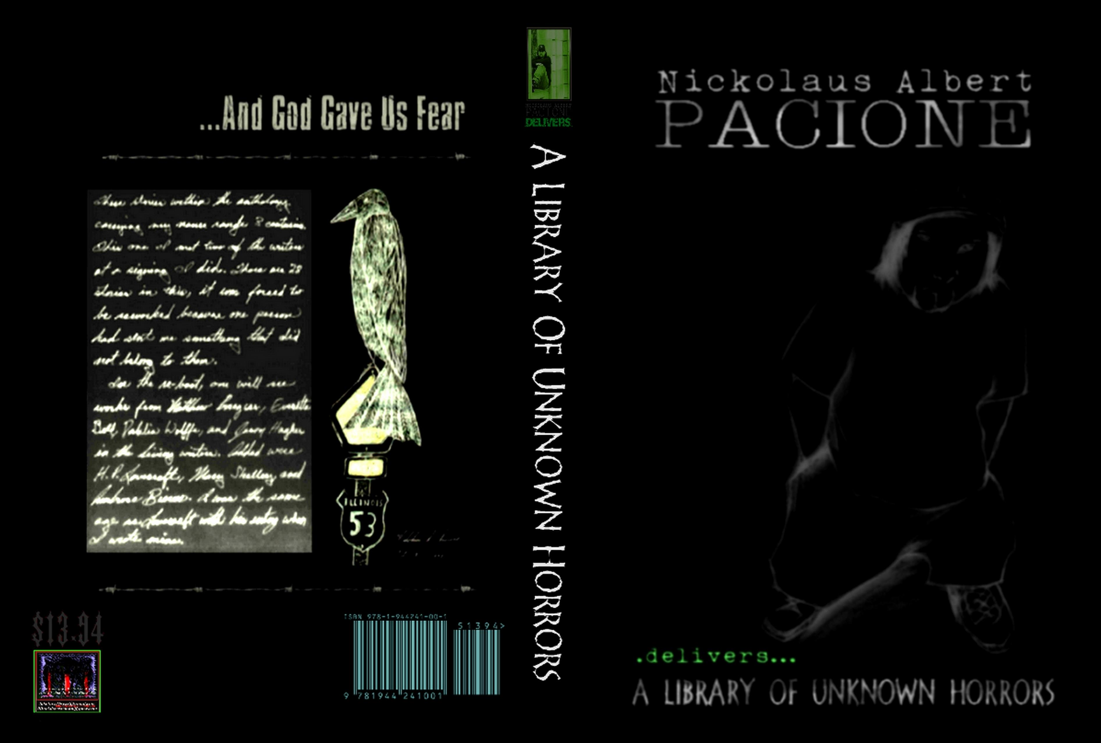 Nickolaus Albert Pacione Delivers: A Library Of Unknown Horrors cover image