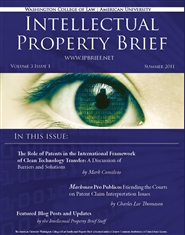 American University Intellectual Property Brief - Volume 3, Issue 1 cover image