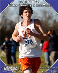 2014 KHSAA Cross Country State Meet Program cover image