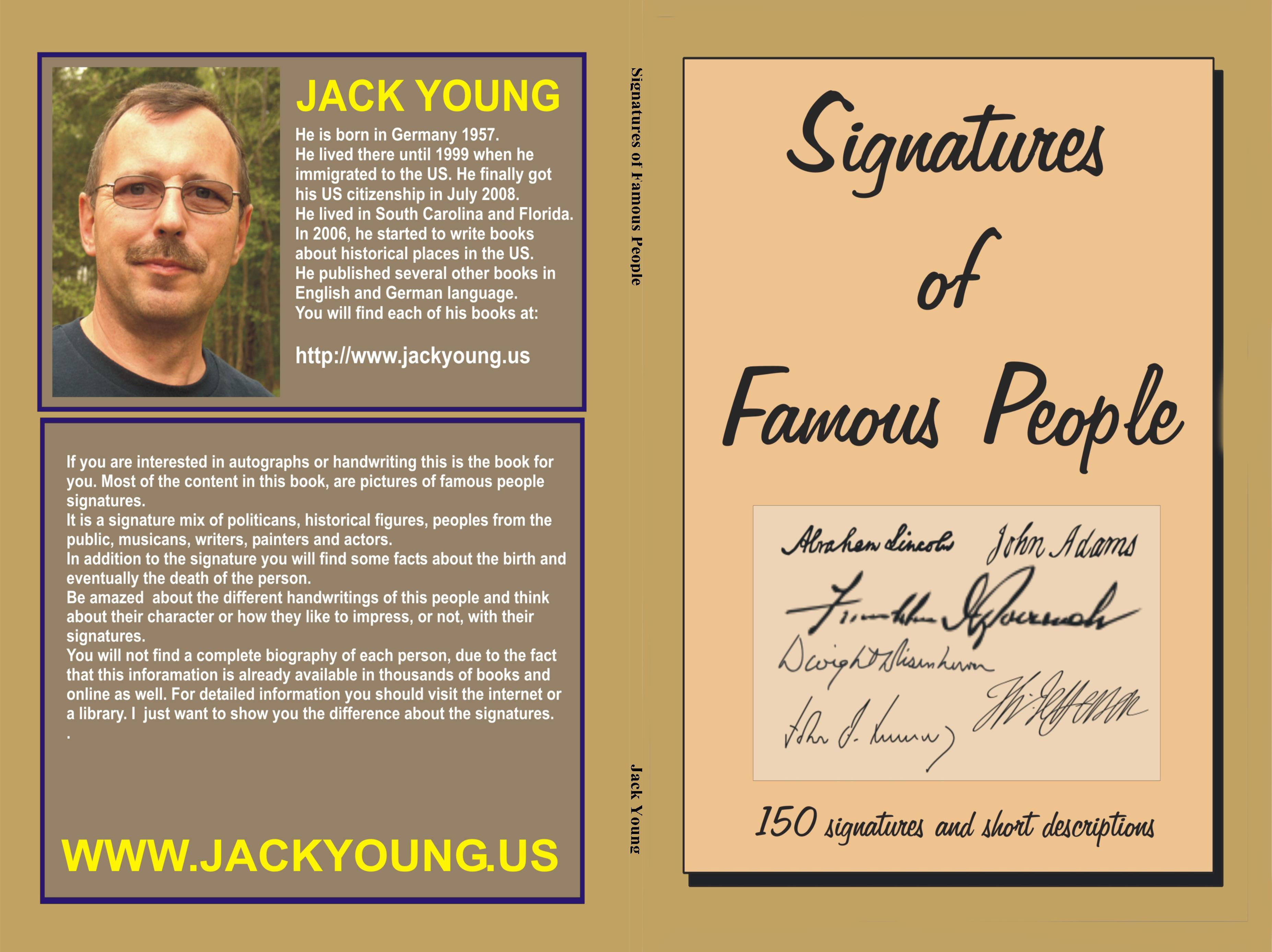 Signatures of Famous People by Jack Young : $3.99 ... Signatures Of Famous Personalities