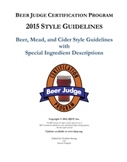 Beer Judge Certification Program 2015 Style Guidelines cover image