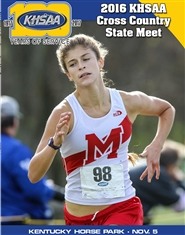 2016 KHSAA Cross Country State Meet Program cover image