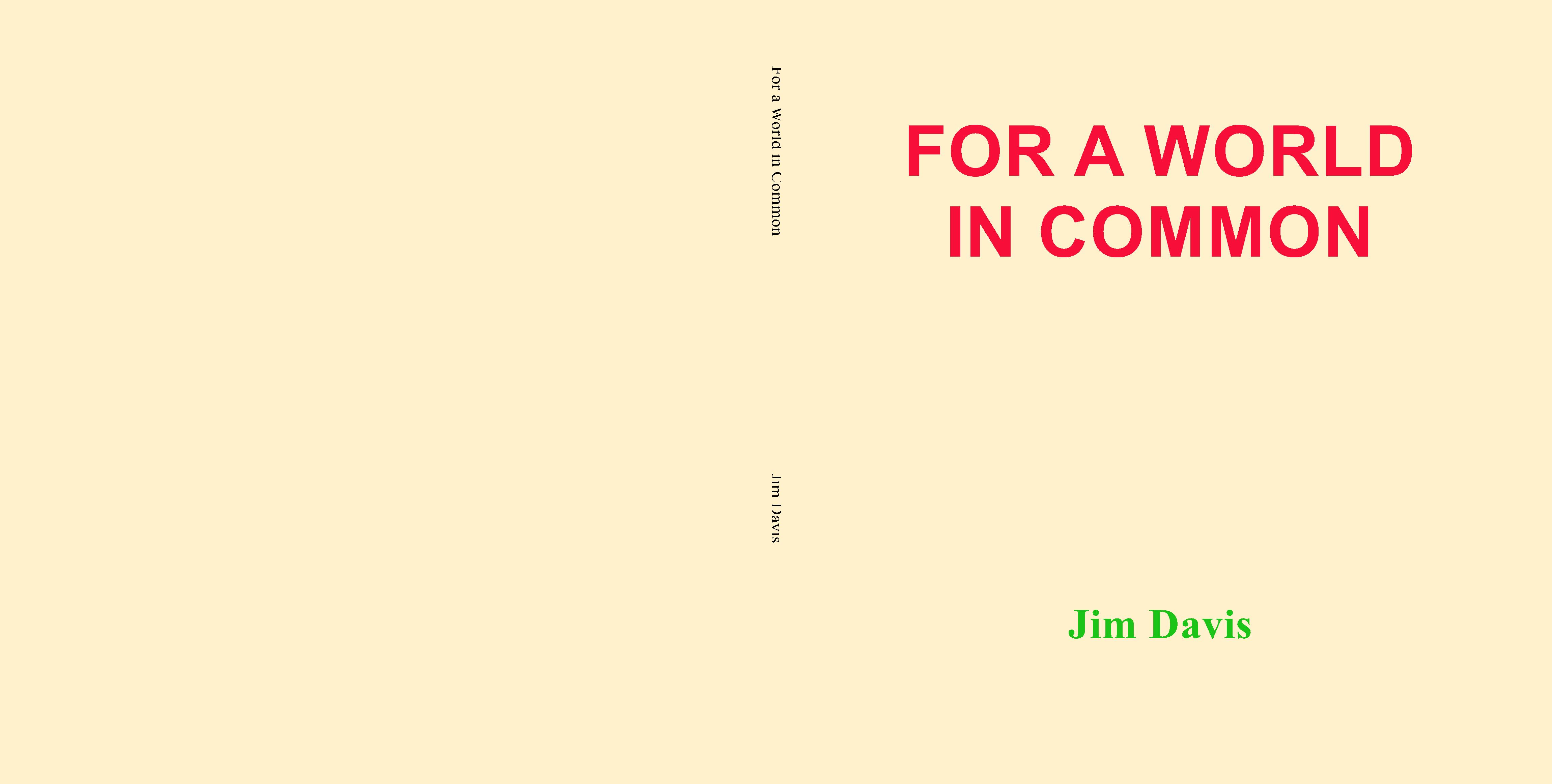 For a World in Common cover image
