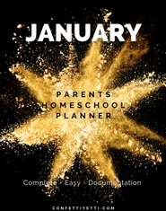 January HomeSchool Parents Planner cover image