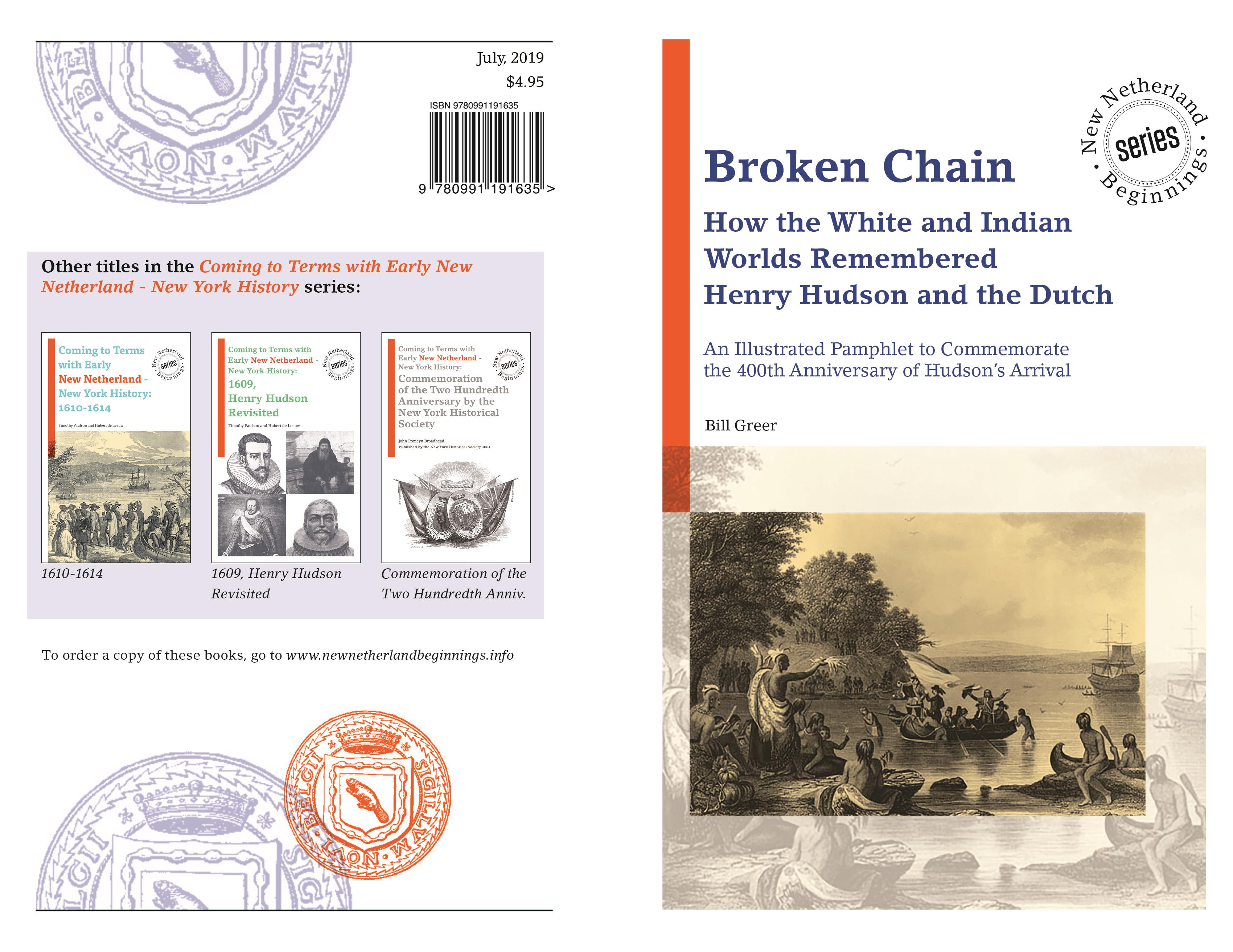 Broken Chain - How the White and Indian Worlds Remembered Henry Hudson and the Dutch cover image