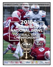 2018 ASAA/First National Bowl Series Football State Championships Program cover image
