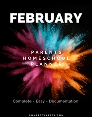 February HomeSchool Parents Planner cover image