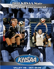 2018 KHSAA Volleyball State Championship Program (B&W) cover image