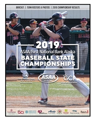 2019 ASAA/First National Bank Alaska Baseball State Championship Program cover image