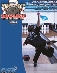 2013 Ebonite/KHSAA Bowling State Championship Program (B&W) cover image