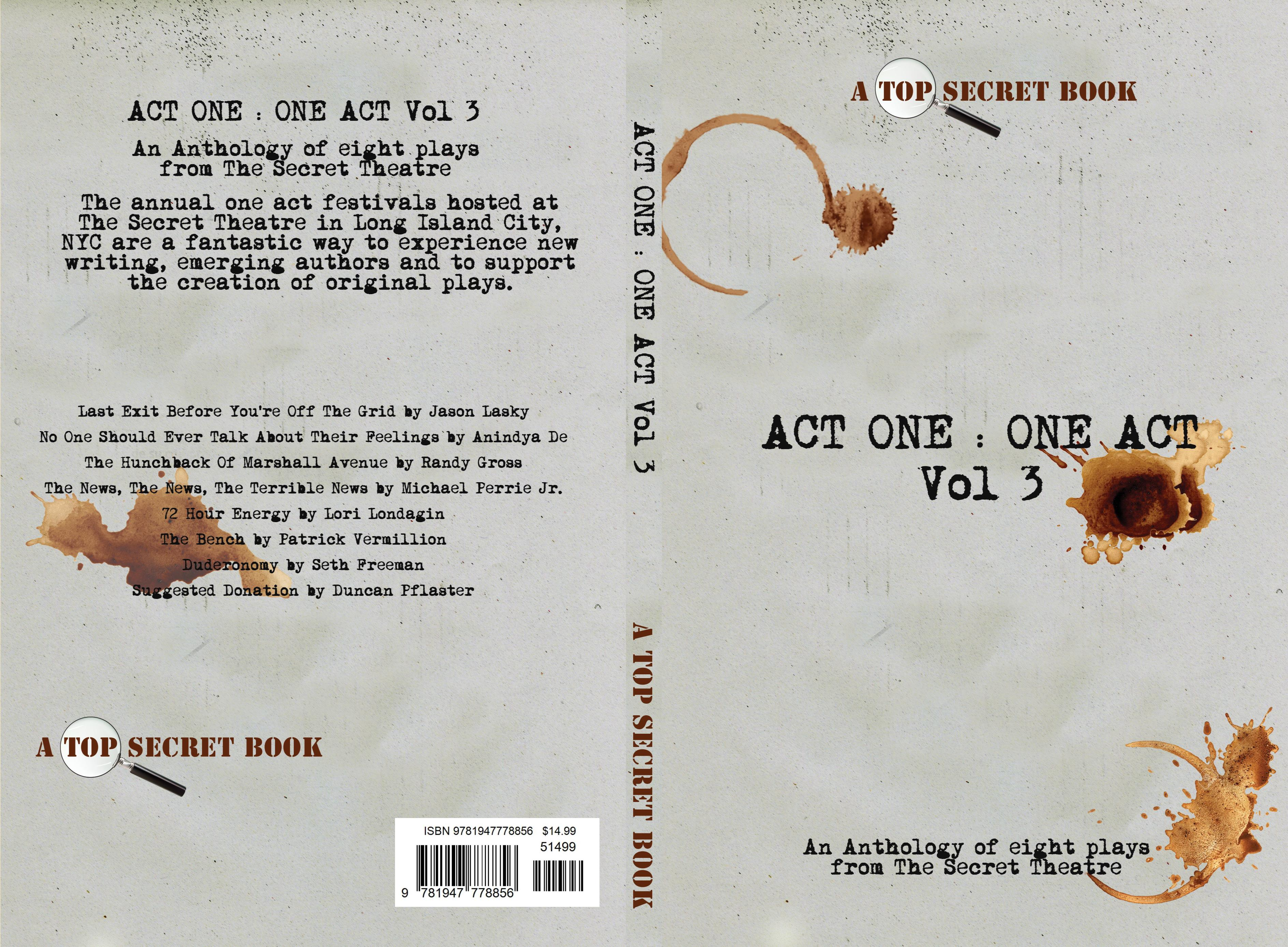 Act One : One Act Vol 3 cover image
