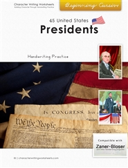 44 United States Presidents - Zaner-Bloser, Beginning Cursive cover image