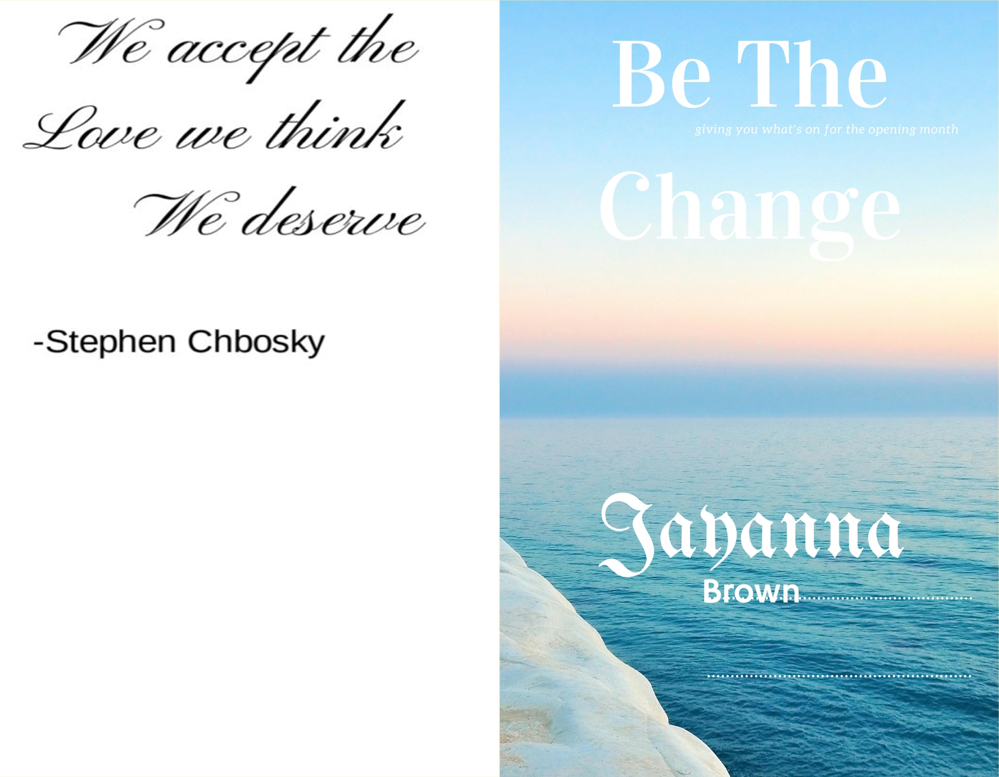 Be The Change cover image