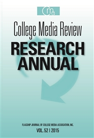 College Media Review Research Annual 2015 cover image