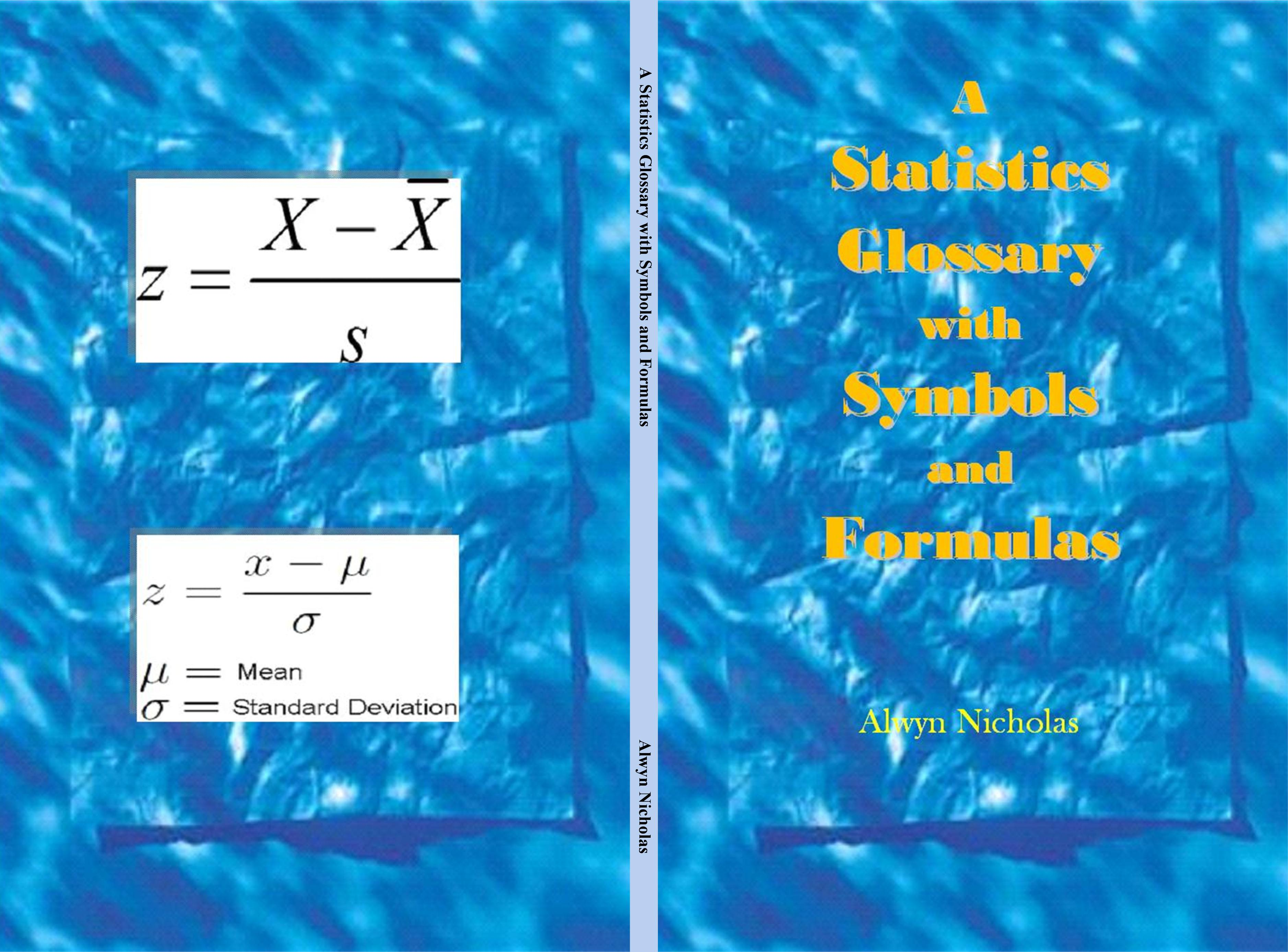 A Statistics Glossary with Symbols and Formulas cover image