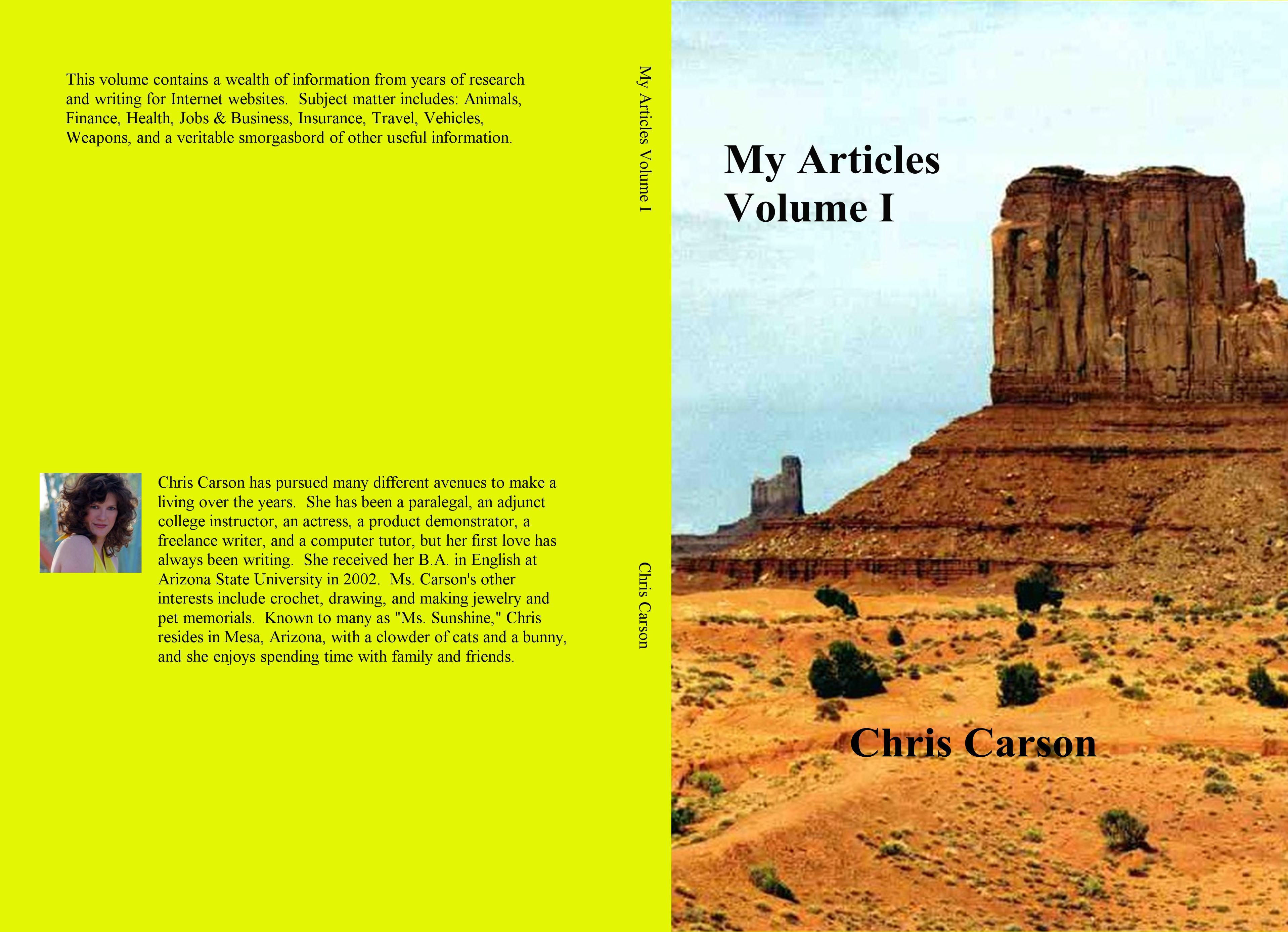 My Articles Volume I cover image
