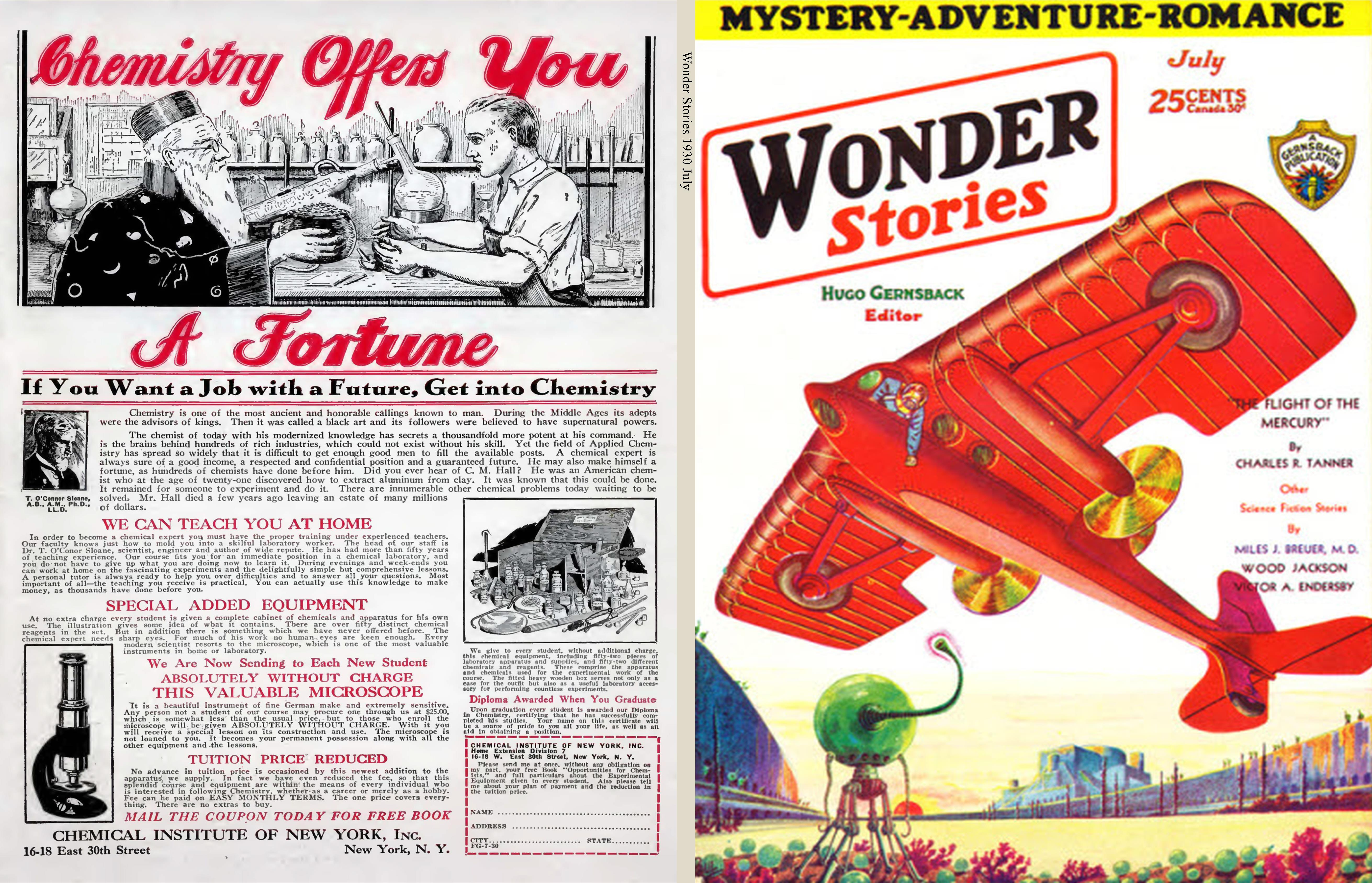 Wonder Stories 1930 July cover image