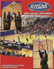 2013 KHSAA Volleyball State Championship Program (B&W) cover image