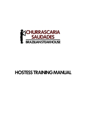 HOSTESS TRAINING MANUAL cover image
