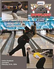 2014 Ebonite/KHSAA Bowling State Championship Program (B&W) cover image