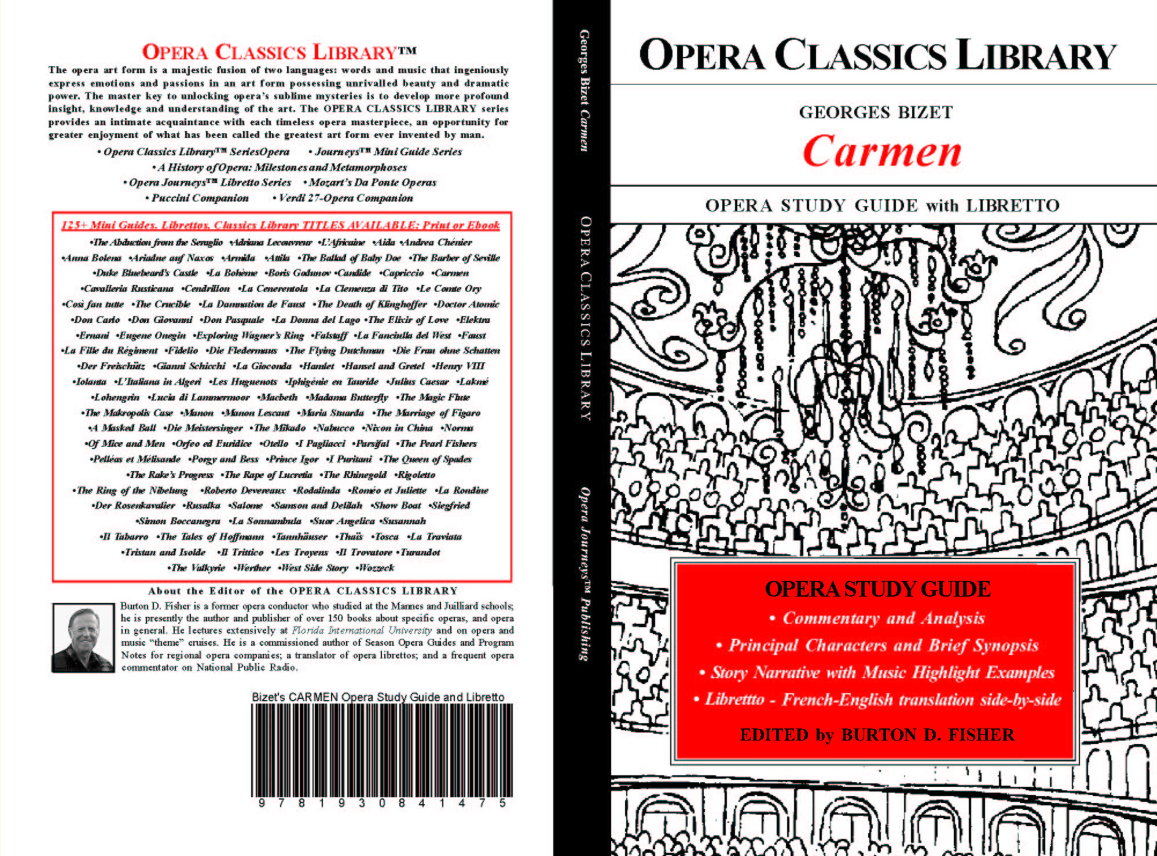 George Bizet CARMEN Opera Study Guide with Libretto cover image