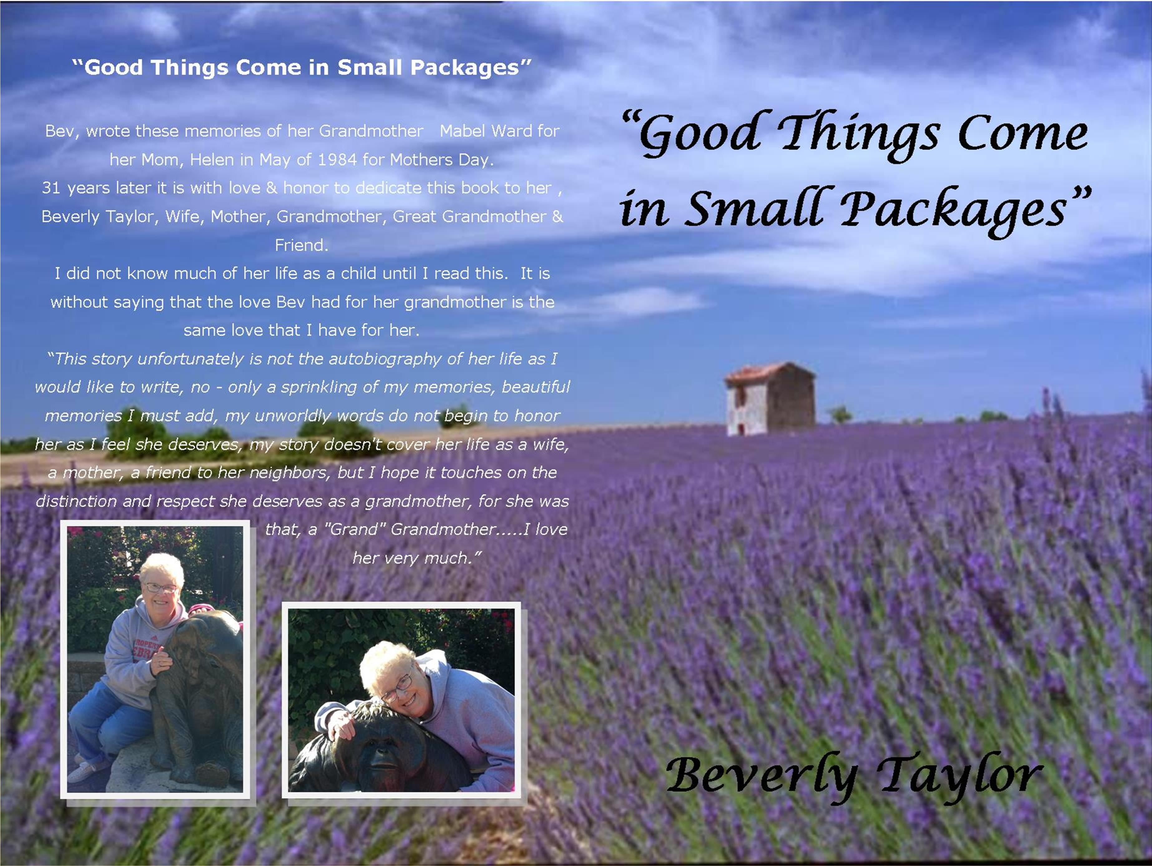 """GOOD THINGS COME IN SMALL PACKAGES"" cover image"