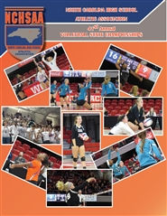 2016 NCHSAA Volleyball Championship Program & Yearbook cover image