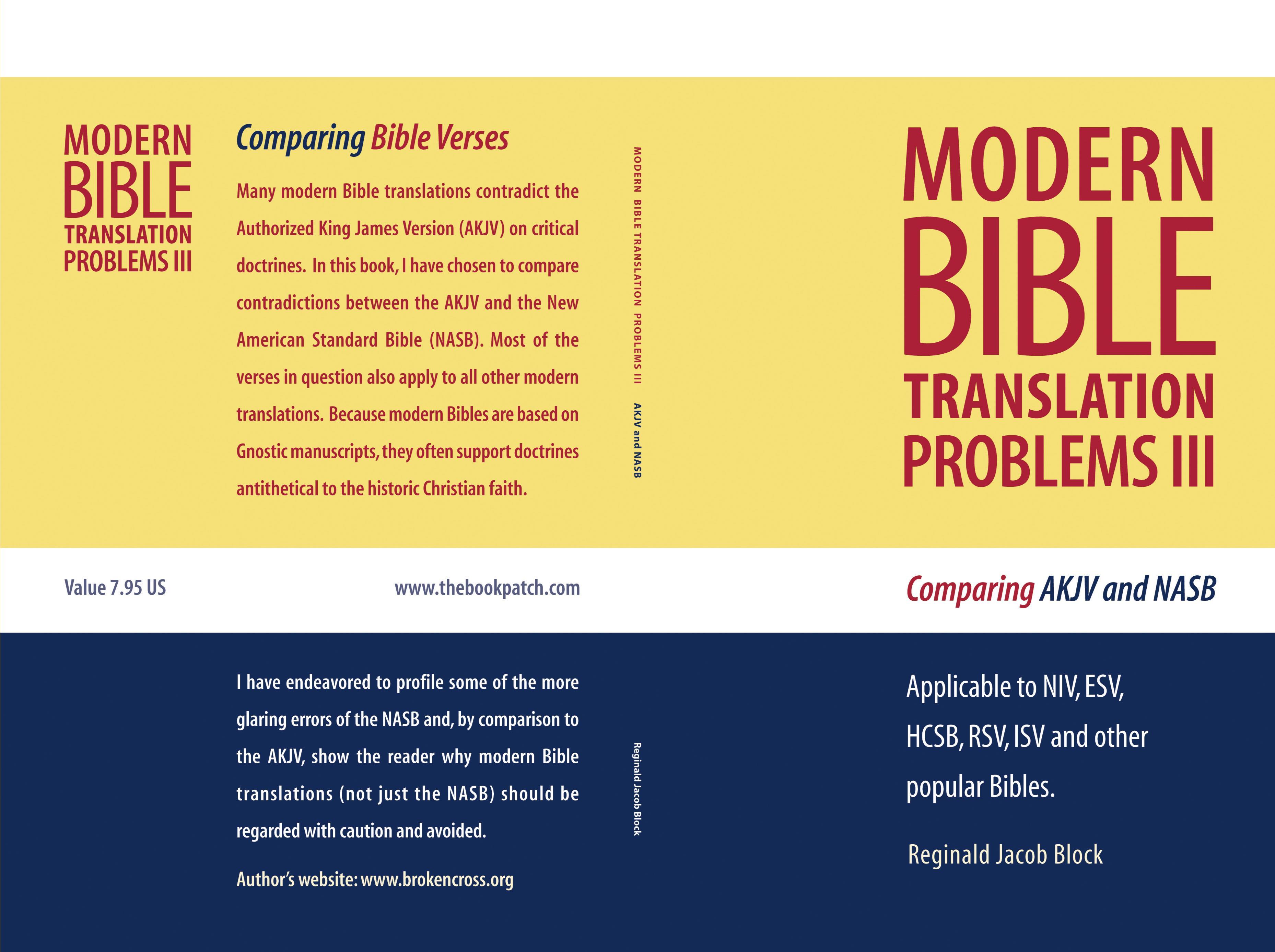 modern bible translation problems iii by reginald jacob