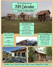 Tiny Texas Houses 2014 Calendar Classic Creations Editions cover image