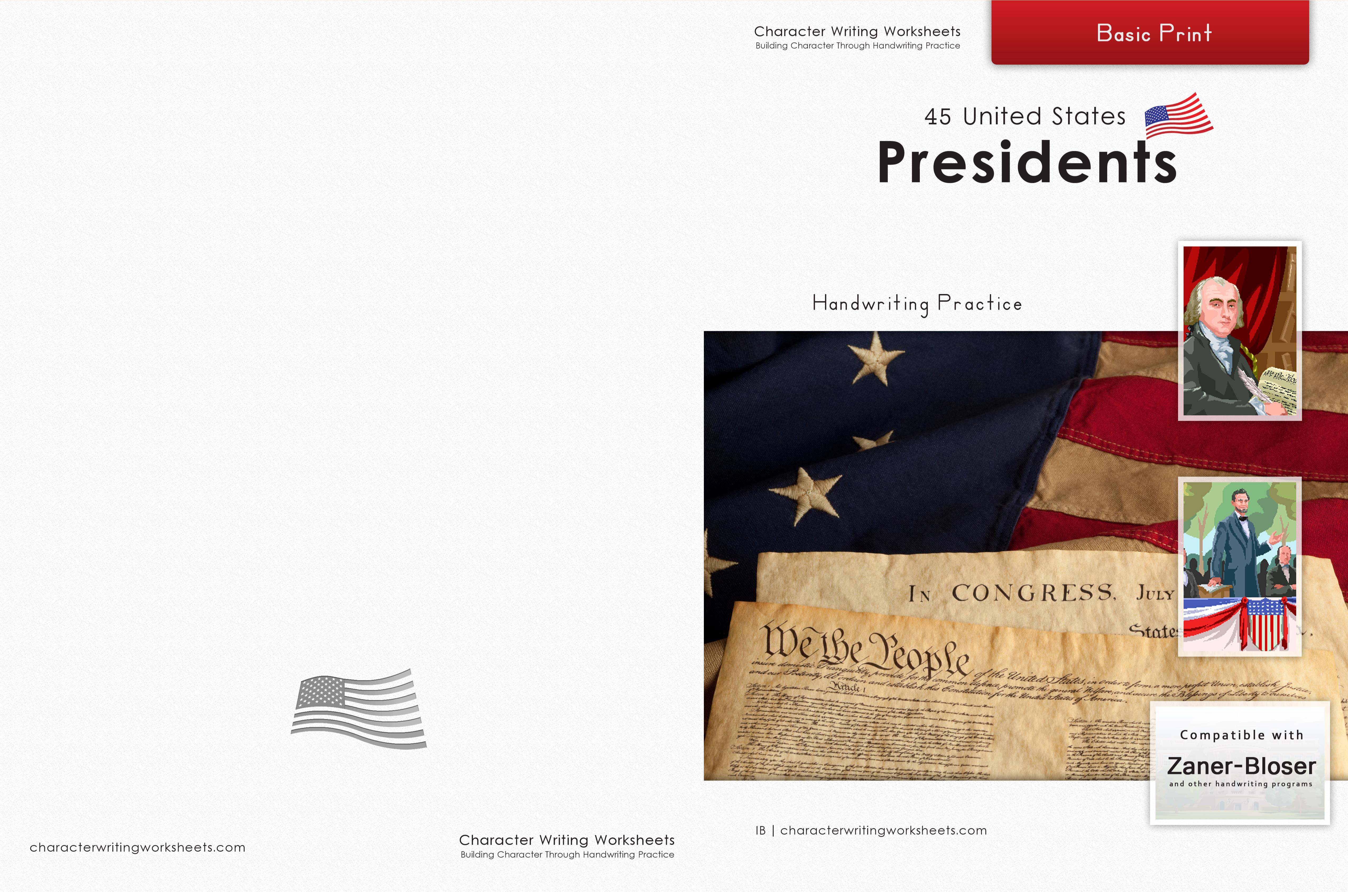44 United States Presidents - Zaner-Bloser, Basic Print cover image