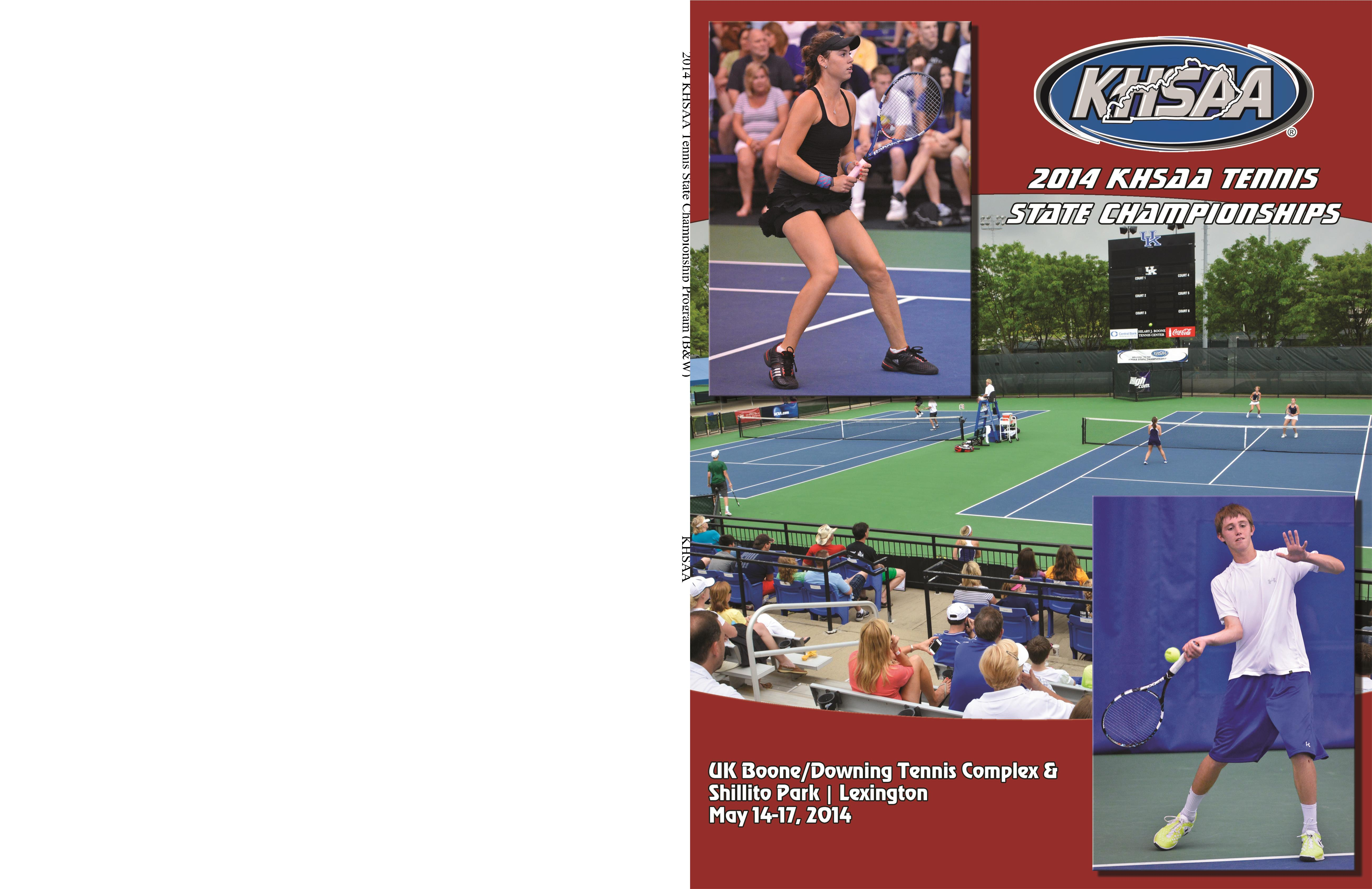 2014 KHSAA Tennis State Championship Program (B&W) cover image