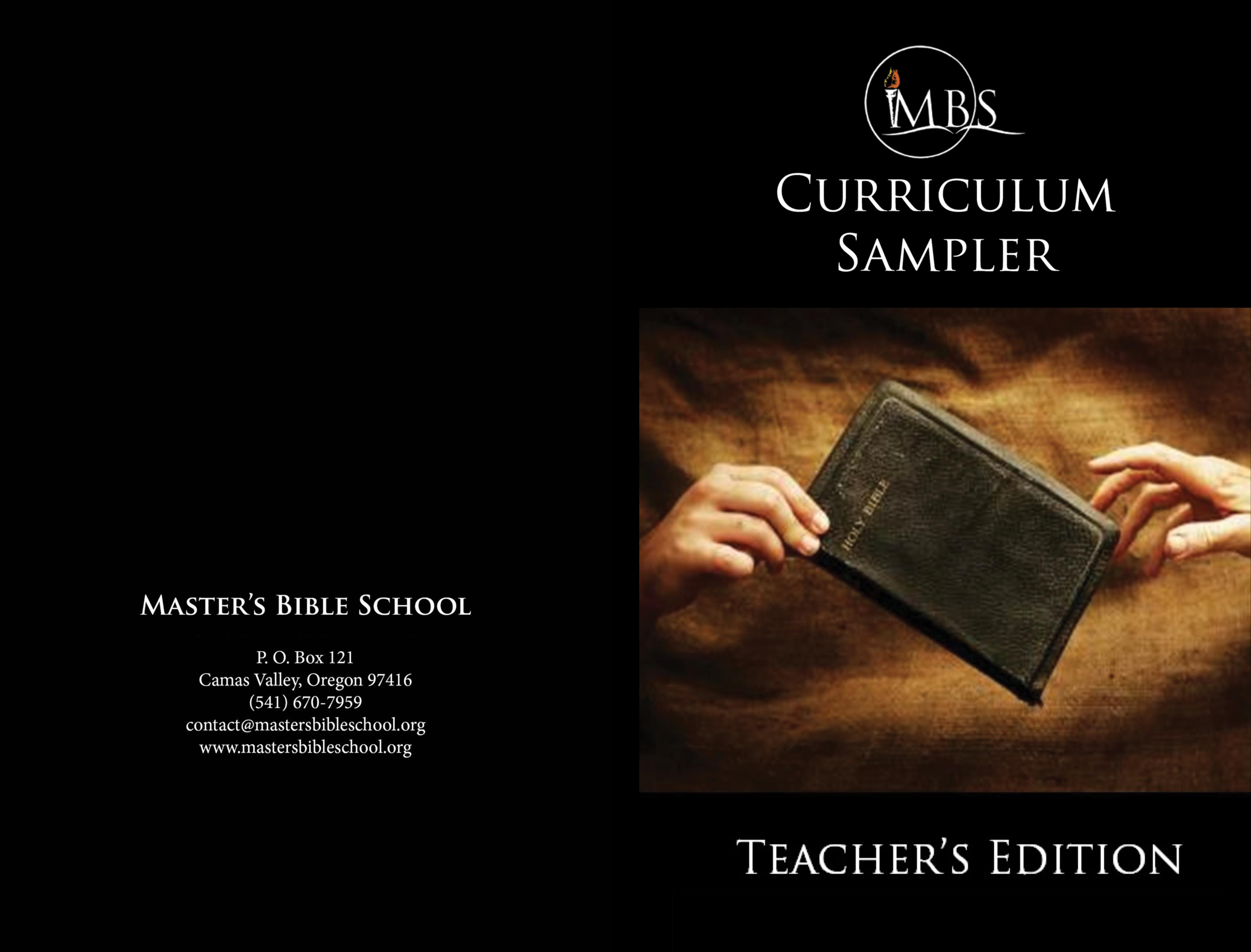 Curriculum Sampler - Teacher