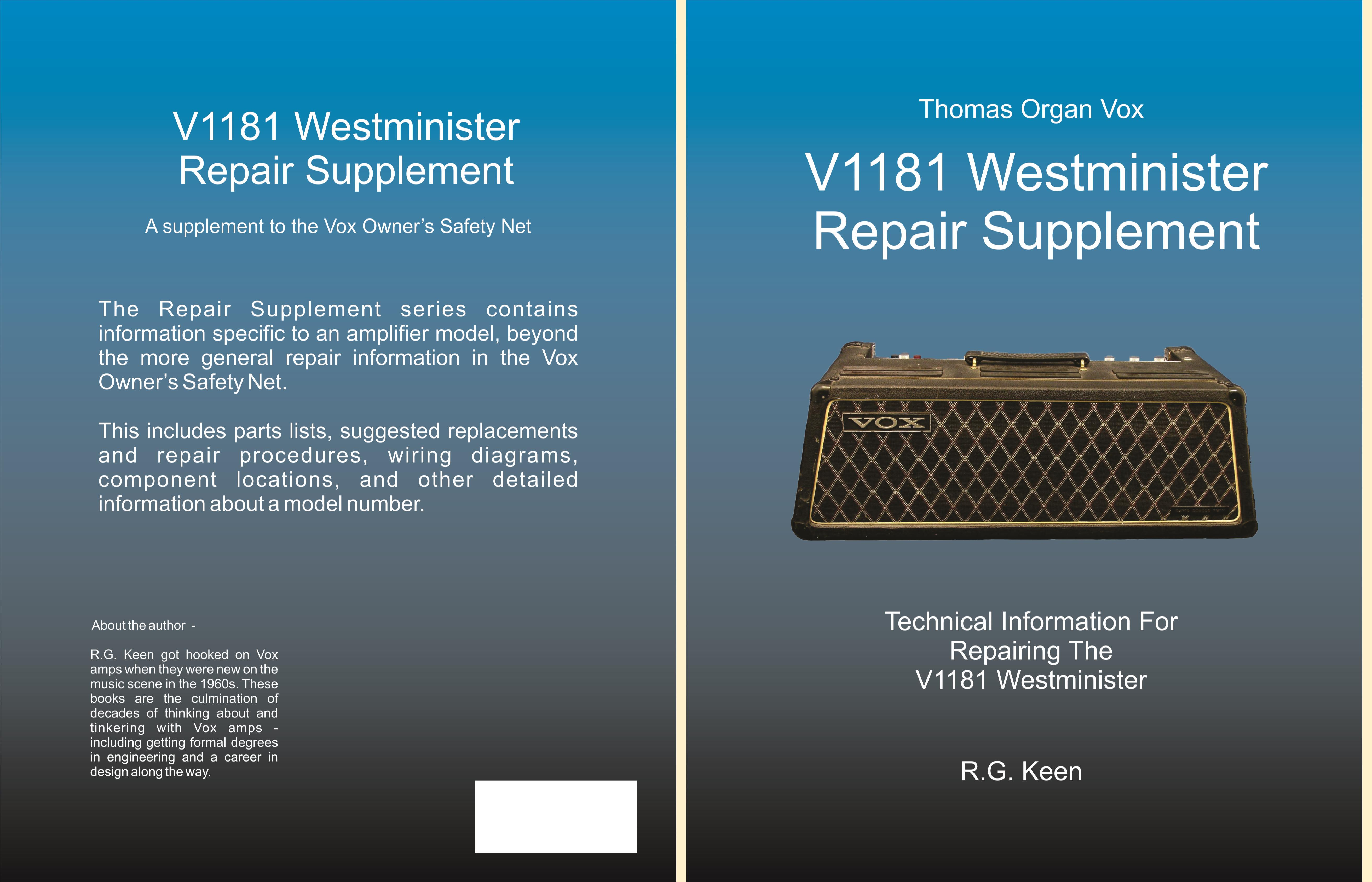 V1181 Westminister Repair Supplement cover image