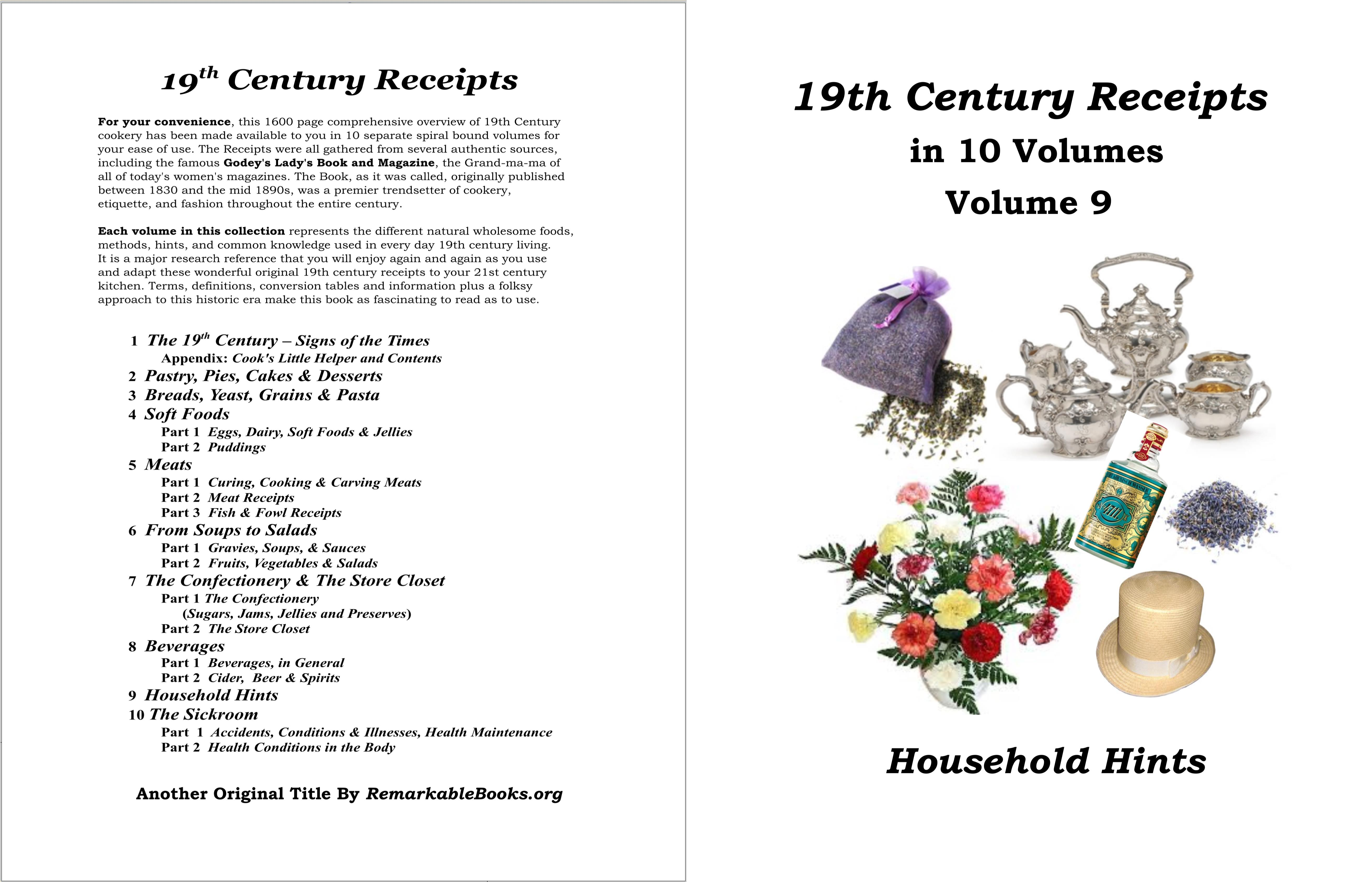 19th Century Receipts Volume 9 cover image