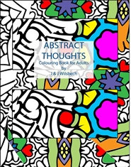 Abstract Thoughts Colouring Book cover image