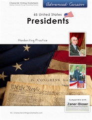 44 United States Presidents - Zaner-Bloser, Advanced Cursive cover image