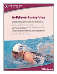 2016 ASAA/First National Bank Alaska Swim & Dive State Championships Program cover image