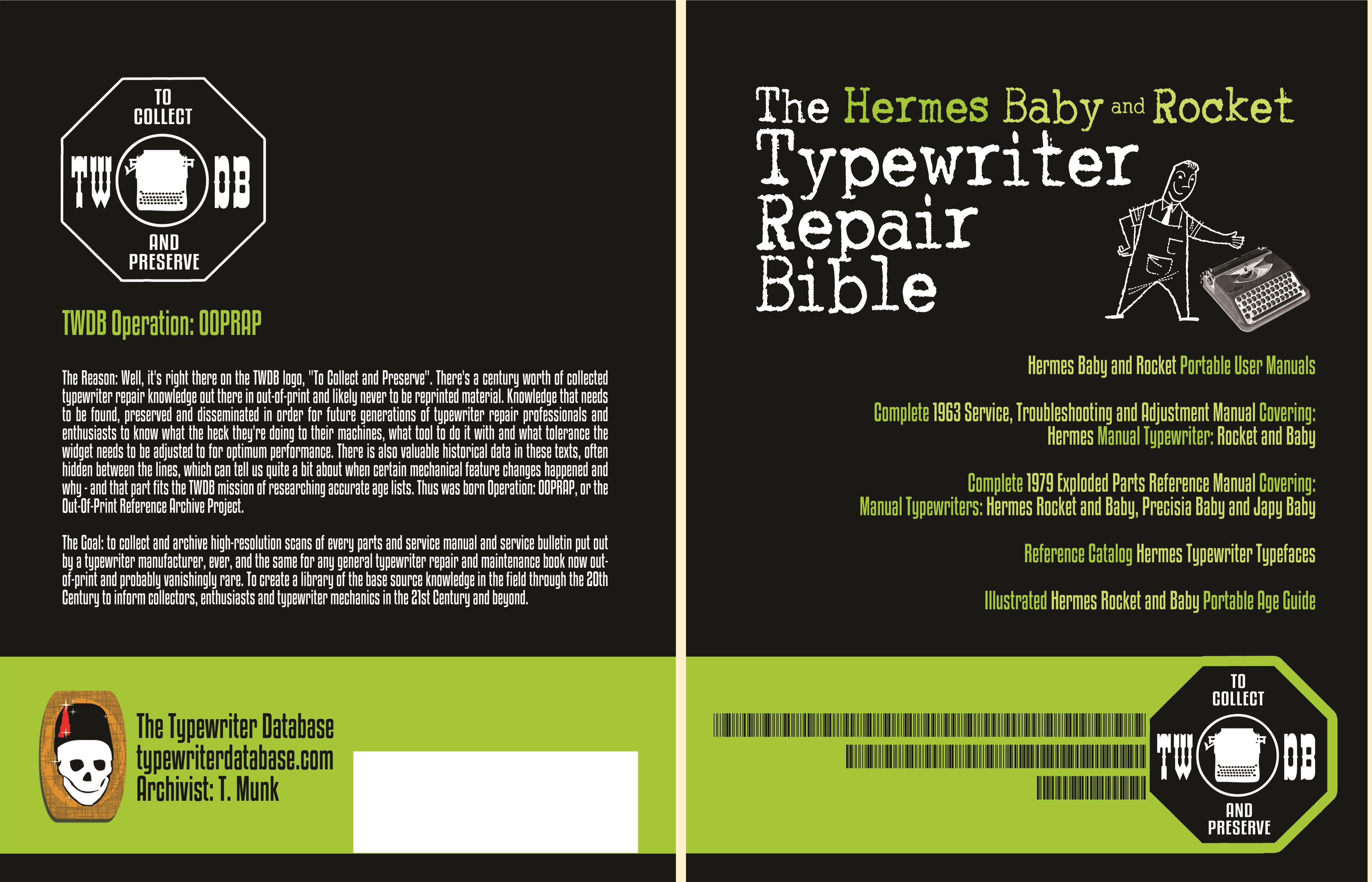 The Hermes Baby and Rocket Typewriter Repair Bible cover image