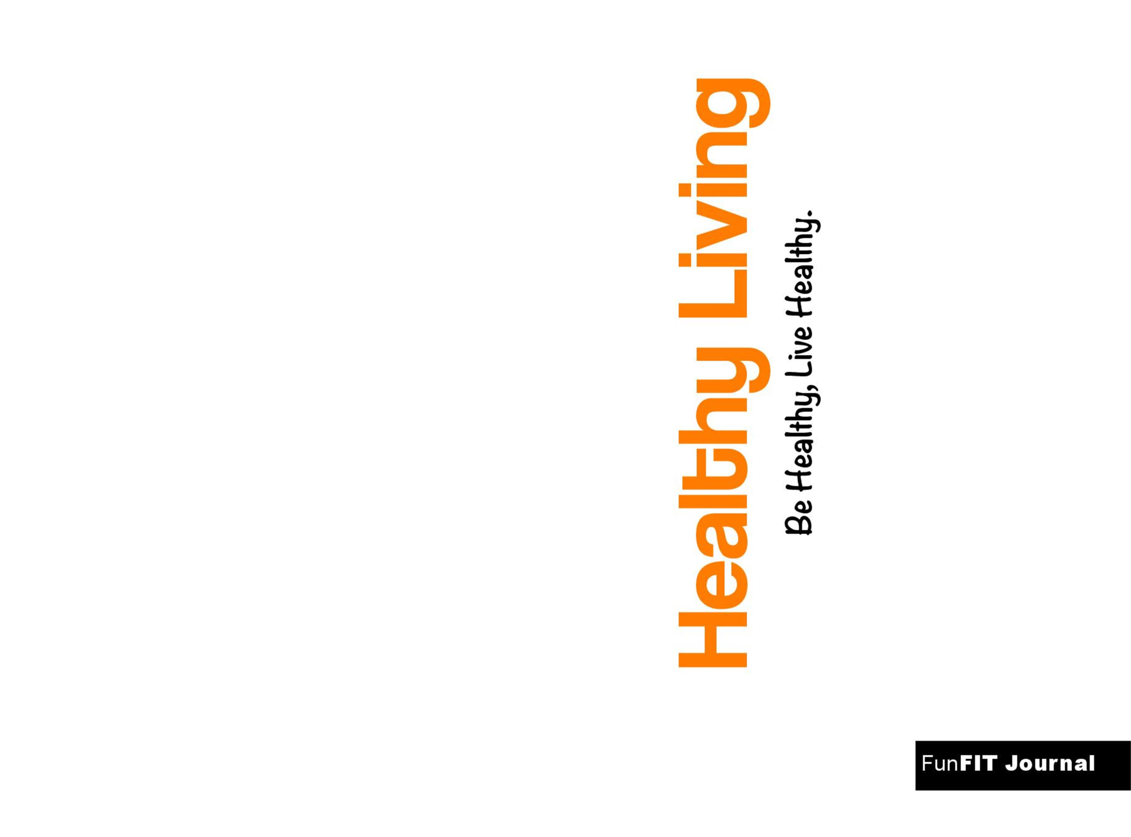 FunFIT Healthy Living Journal cover image