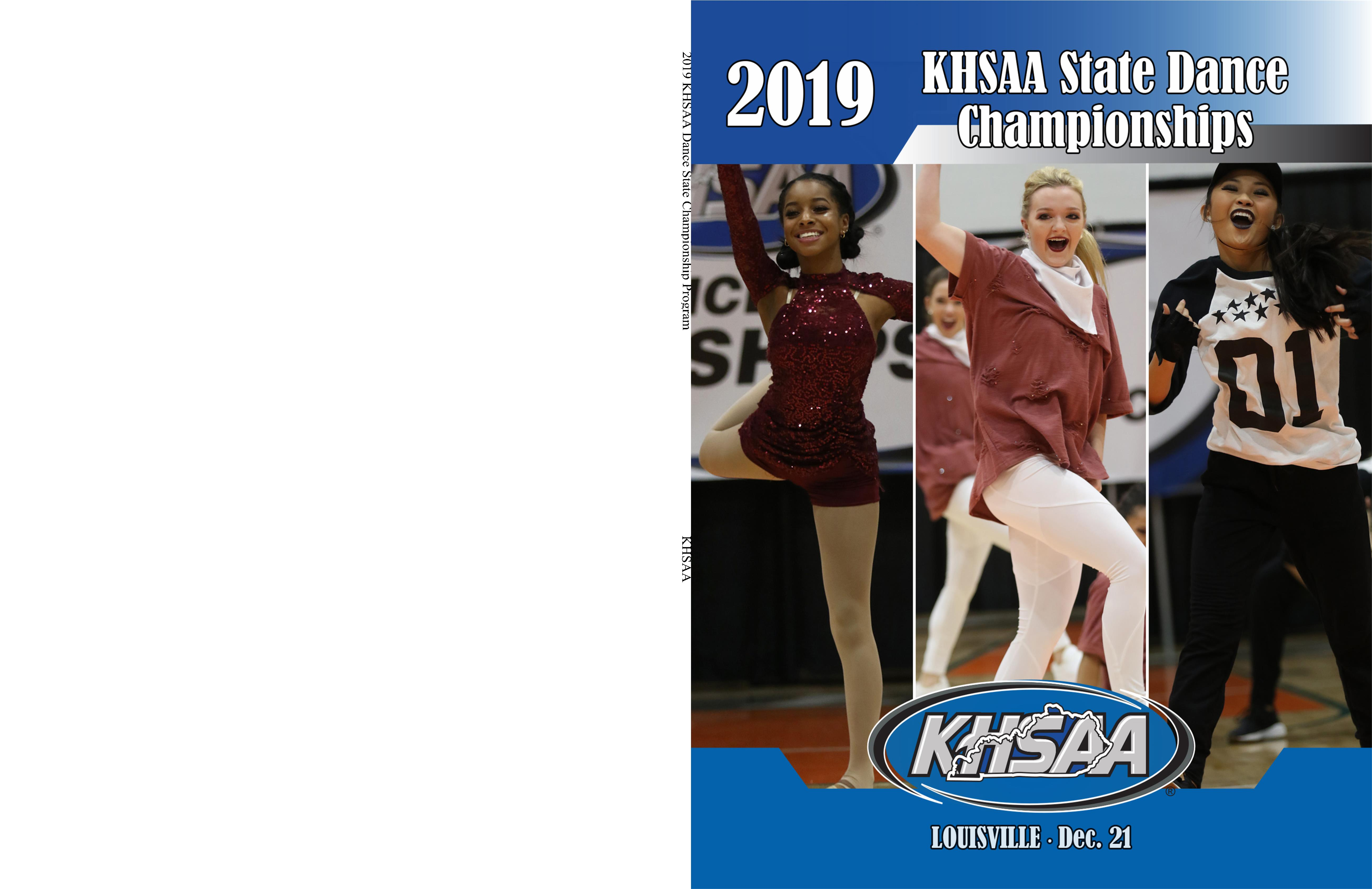 2019 KHSAA Dance State Championship Program cover image
