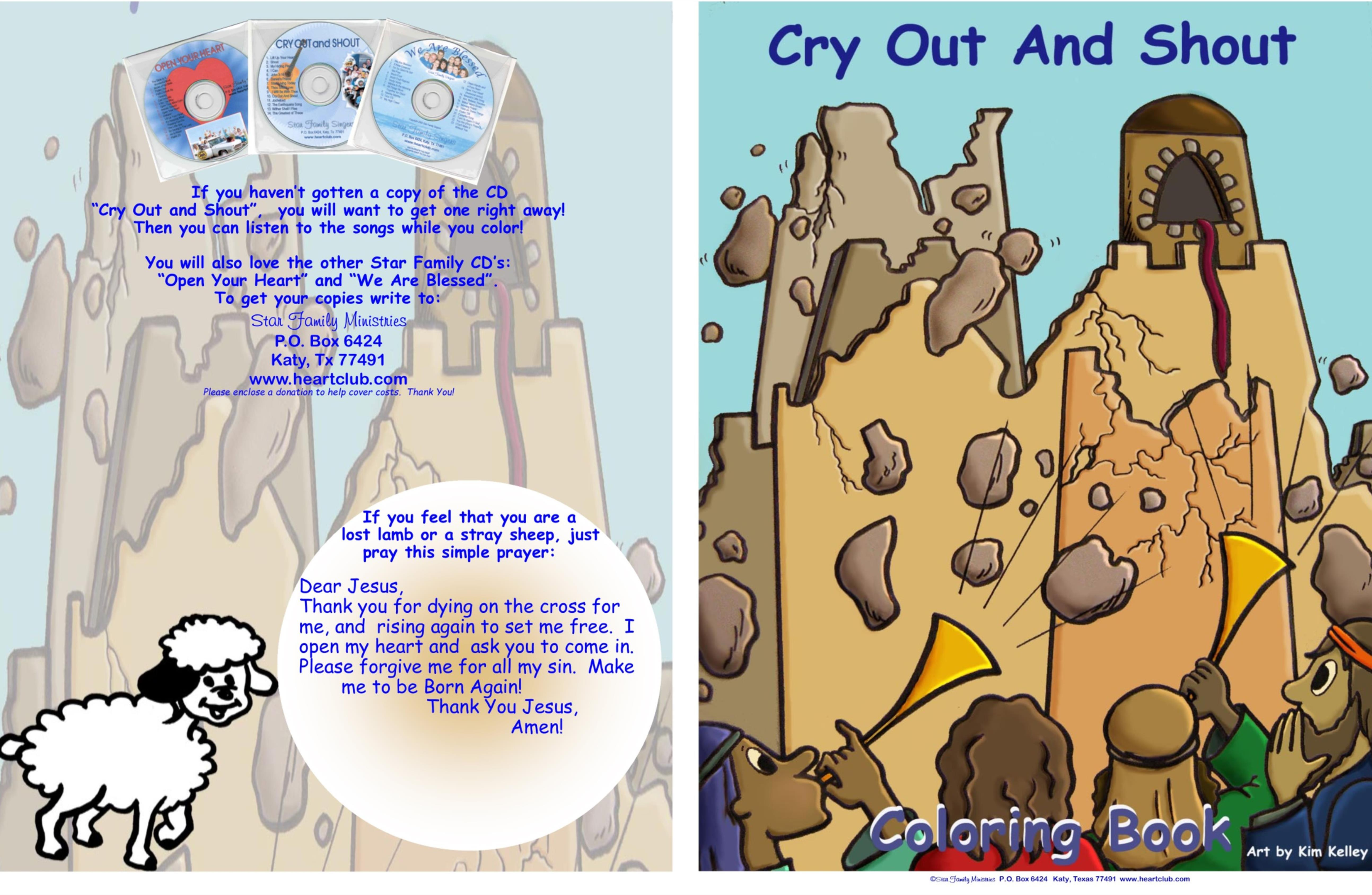 Cry Out and Shout Coloring Book cover image